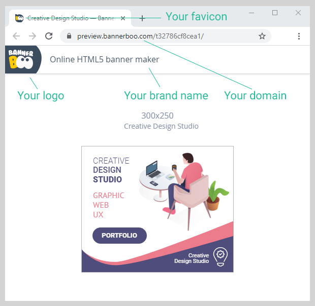 Bannerboo — new functionality. Branded Share Link and MP4 export